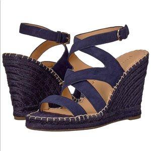 Joie Navy Blue Wedge Espadrilles Size 36